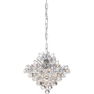 Bordeaux With Clear Crystal Mini Pendant