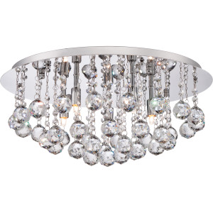 Bordeaux With Clear Crystal Flush Mount