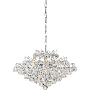 Bordeaux With Clear Crystal Pendant